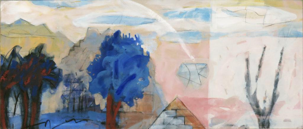 Terra Incognita No. 8, oil on canvas, 18 x 42 inches (46 x 107 cm)