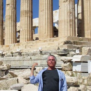 William traveling in Greece